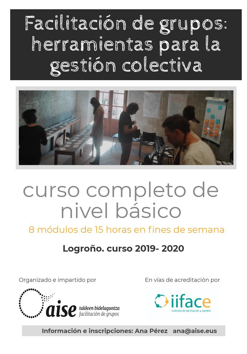 Curso anual de facilitación de Grupos en Logroño